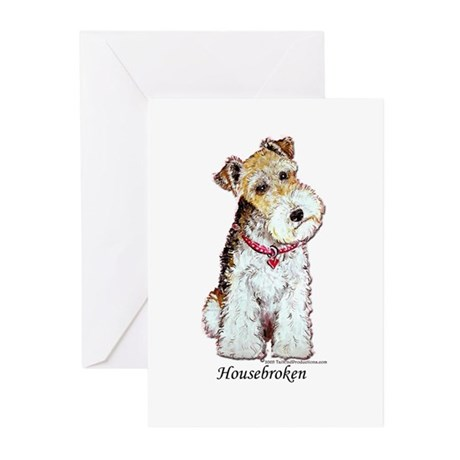 Fox Terrier Pup Greeting Cards (Pk of 10)