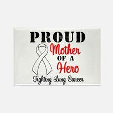 ProudMotherLungCancer Hero Rectangle Magnet