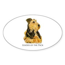Welsh Terrier Leader of the Pack Oval Decal