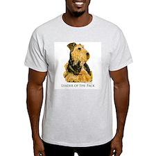 Welsh Terrier Leader of the Pack Ash Grey T-Shirt