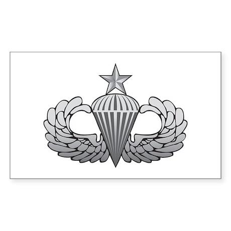 Senior Airborne Wings Rectangle Sticker