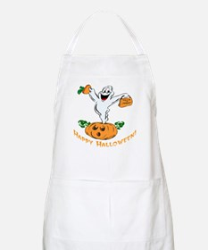 Happy Halloween Pumpkin Ghost BBQ Apron