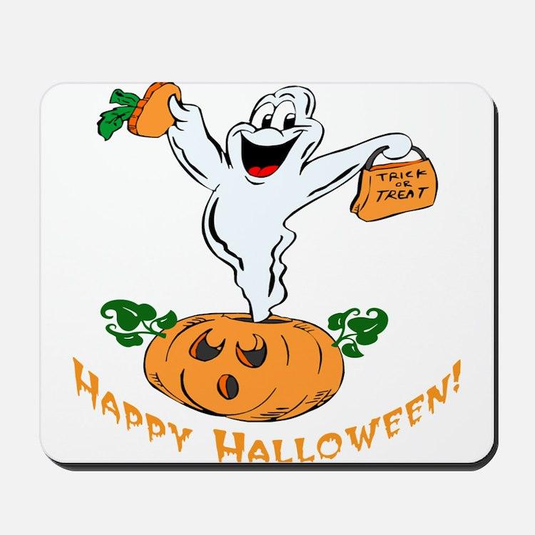 Happy Halloween Pumpkin Ghost Mousepad