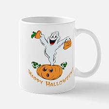 Happy Halloween Pumpkin Ghost Mug