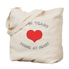 60 Young At Heart Birthday Tote Bag