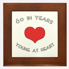 60 Young At Heart Birthday Framed Tile
