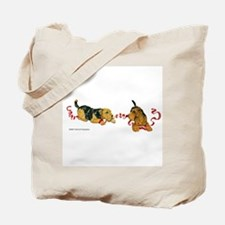 Welsh Terriers play to Win! Tote Bag