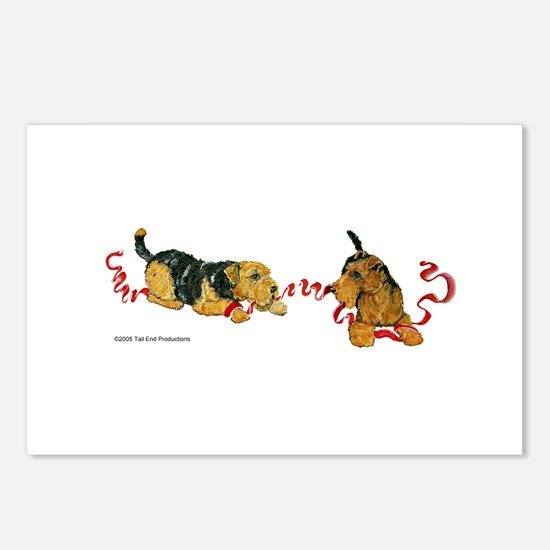 Welsh Terriers play to Win! Postcards (Package of