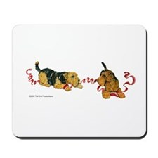 Welsh Terriers play to Win! Mousepad