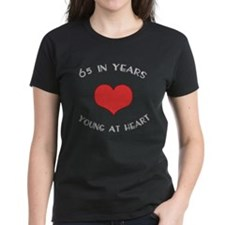 65 Young At Heart Birthday Tee