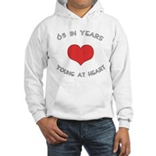65 Young At Heart Birthday Hoodie