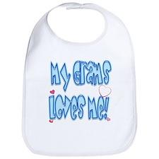 Grams Loves me Blue Baby Bib