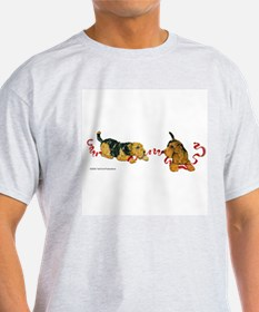 Welsh Terriers play to Win! Ash Grey T-Shirt