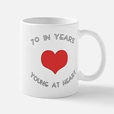 70 Young At Heart Birthday Small Small Mug