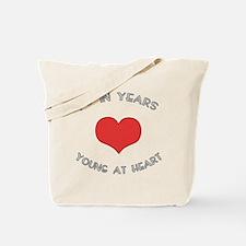 70 Young At Heart Birthday Tote Bag
