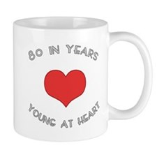 80 Young At Heart Birthday Mug