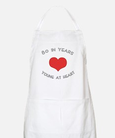 80 Young At Heart Birthday BBQ Apron
