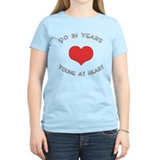 90 Young At Heart Birthday T-Shirt