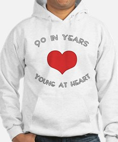 90 Young At Heart Birthday Hoodie
