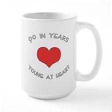 90 Young At Heart Birthday Mug