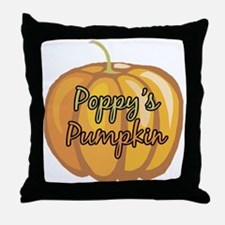 Poppy's Pumpkin Throw Pillow