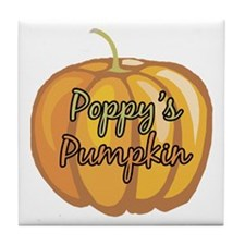 Poppy's Pumpkin Tile Coaster