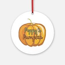 Poppy's Pumpkin Ornament (Round)