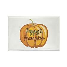 Poppy's Pumpkin Rectangle Magnet