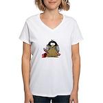 Plumber Penguin Women's V-Neck T-Shirt
