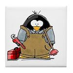 Plumber Penguin Tile Coaster