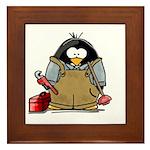 Plumber Penguin Framed Tile