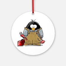 Plumber Penguin Ornament (Round)