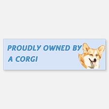 Proudly Owned Corgi Bumper Bumper Sticker