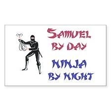 Samuel - Ninja by Night Rectangle Decal