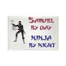 Samuel - Ninja by Night Rectangle Magnet