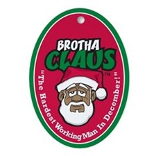 Brotha Claus Oval Ornament