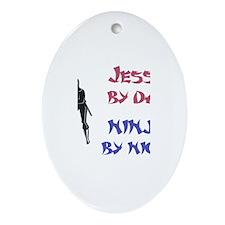 Jesse - Ninja by Night Oval Ornament
