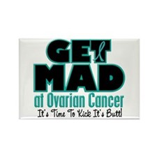 Get Mad At Ovarian Cancer 2 Rectangle Magnet