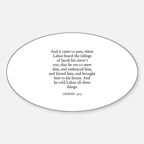 GENESIS 29:13 Oval Decal