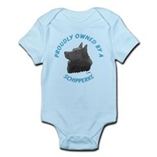 Proudly Owned Schipperke Infant Bodysuit