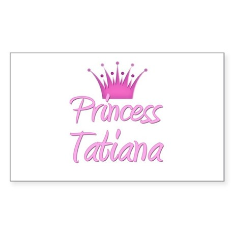 Princess Tatiana Rectangle Sticker