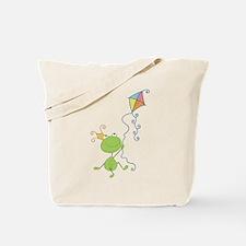 Frog Kite Flying Tote Bag