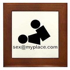 Sex @ My Place Framed Tile