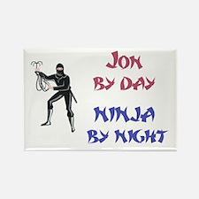 Jon - Ninja by Night Rectangle Magnet
