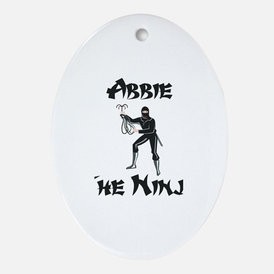 Abbie - The Ninja Oval Ornament