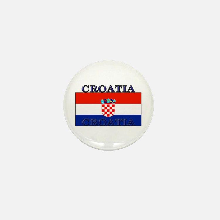 Croatia Croatian Flag Mini Button