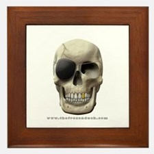 Pirate Skull Framed Tile
