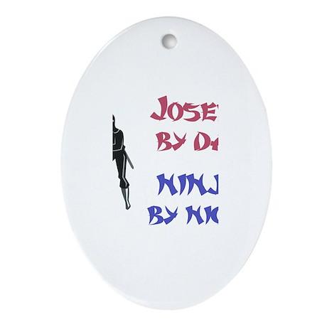 Joseph - Ninja by Night Oval Ornament