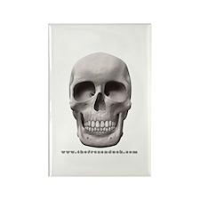 Pale Skull Rectangle Magnet