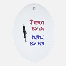 Timothy - Ninja by Night Oval Ornament
